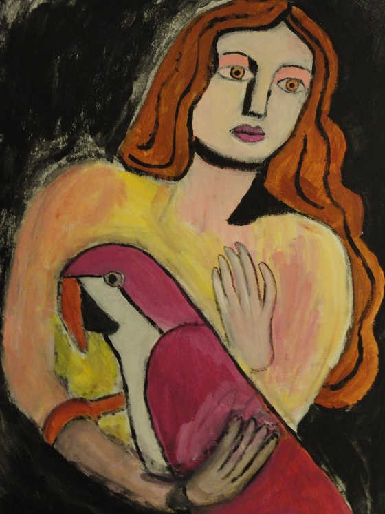Woman With Parrot (Unfinished)